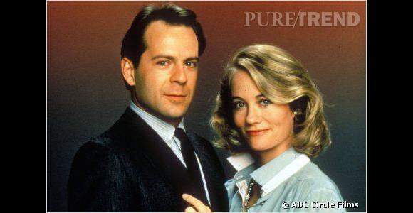 """Les coiffures de Bruce Willis à l'écran. Dans la série """"Clair de Lune"""", en 1985."""