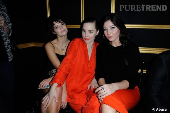 Pixie Geldof, Melissa George et Daisy Lowe au premier rang du défilé H&M.