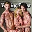 Alexander Skarsgard, Anna Paquin et Stephen Moyer posent nus et couverts de sang pour Rolling Stone.