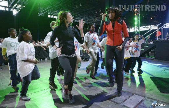 Michelle Obama se donne à fond pour lutter contre le surpoids des enfants.