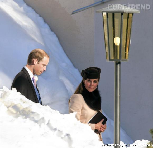 Kate Middleton se rend à un mariage en Suisse.