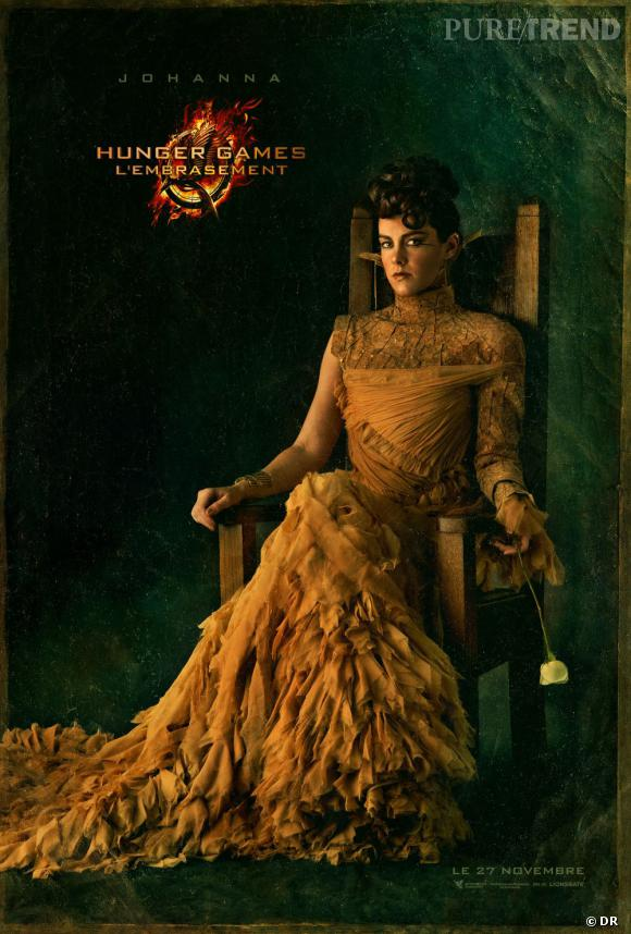 Jena Malone incarne Johanna Mason dans Hunger Games 2 : L'Embrasement.