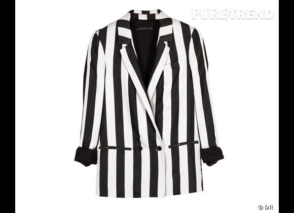 Tendance rayures : le bon shopping       Blazer Zara, 99,95 €