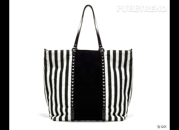 Tendance rayures : le bon shopping       Cabas Zara, 59,95 €