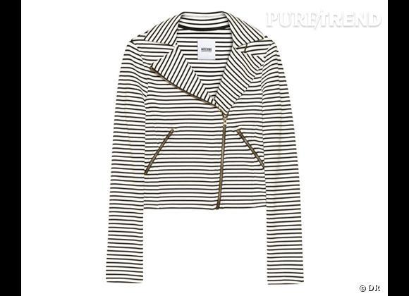 Tendance rayures : le bon shopping       Perfecto Moschino Cheap and Chic, 371 € sur  Net-a-Porter.com