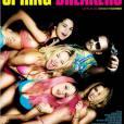 Dans  Spring Breakers , les filles ont les cheveux libres et wavy bruns, décolorés voire roses !