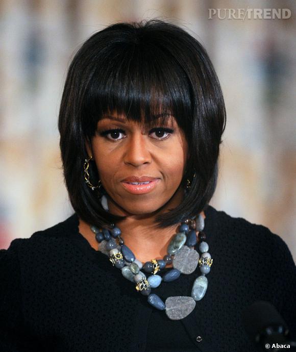La frange de Michelle Obama ne laisse personne indifférent, surtout pas Karl Lagerfeld.
