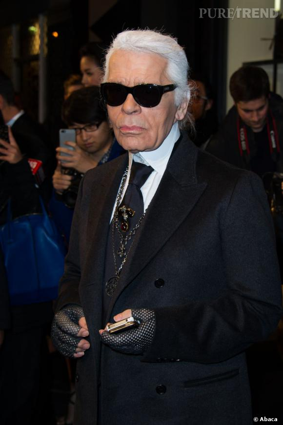 Karl Lagerfeld n'a jamais sa langue dans sa poche.
