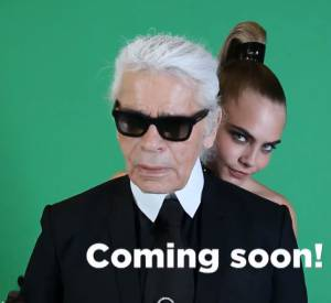 Teaser de la capsule Karl Lagerfeld pour Melissa avec Cara Delevingne.