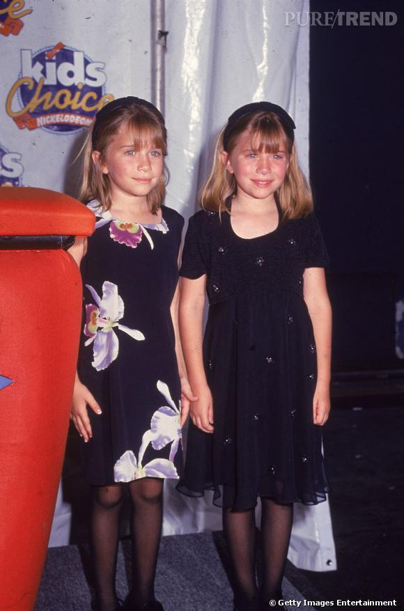 Mary-Kate et Ashley Olsen aux Kids Choice Awards en 1996.