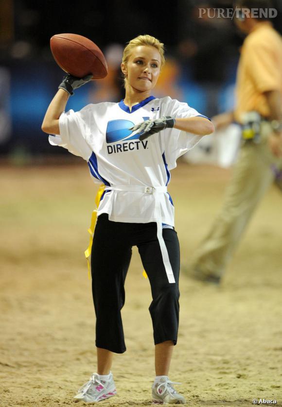 """Le flop """"sportif"""" :  Hayden en plein effort ce n'est pas toujours beau à voir."""