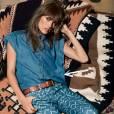 Comment porter le denim ce Printemps-Eté 2013 ?       Comme chez Mango on ose le jean avec motifs.      Lookbook Printemps-Eté 2013