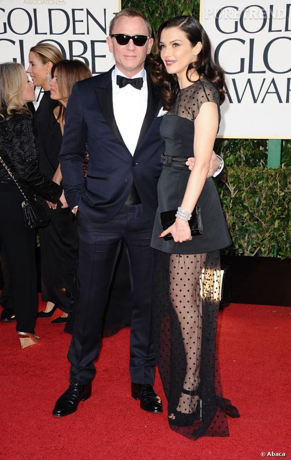 Daniel Craig et Rachel Weisz, aux Golden Globes 2013 : bientôt ensemble à Broadway.