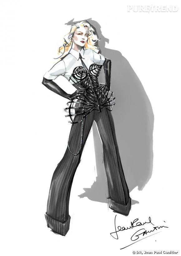 Jean Paul Gaultier habille Madonna pour sa tournée MDNA.