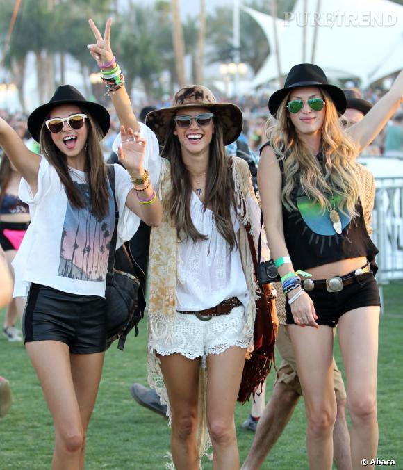 Alessandra Ambrosio et ses copines au Festival de Coachella en Californie.