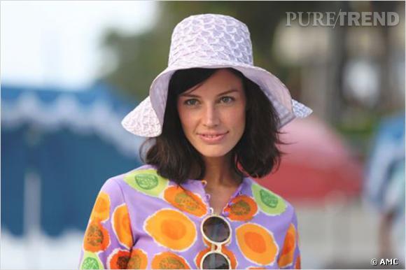 Megan Draper signe une évolution dans le maquillage de la série, instillant une petite dose yéyé à son look.