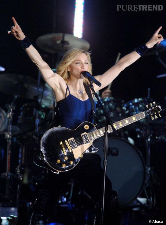 Madonna met le feu en 2006.