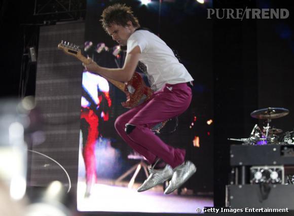 Muse s'envoie en l'air en 2010.