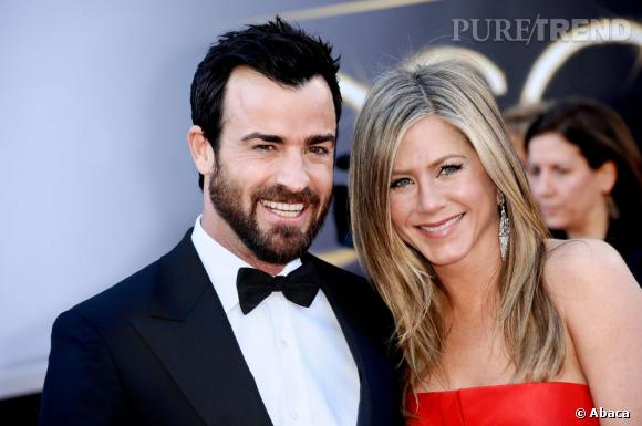 Jennifer Aniston et Justin Theroux, couple rayonnant lors des Oscars 2013.