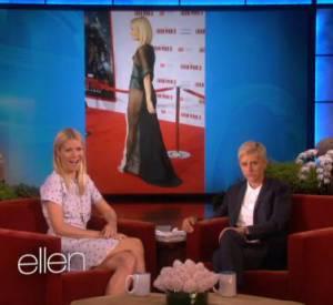 Gwyneth Paltrow parle de sa robe transparente et sexy.