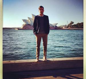 "Zachary quinto, en pleine promotion de ""Star Trek : Into Darkness"", de passage à Sydney !"
