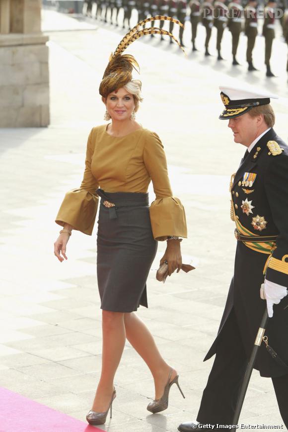 La reine Maxima des Pays Bas n'hésite pas à sortir le grand jeu.