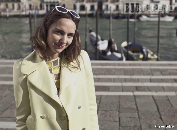 """Louis Vuitton présente """"L'Art de Vivre Vénitien"""" avec le mannequin italien Candela Novembre."""
