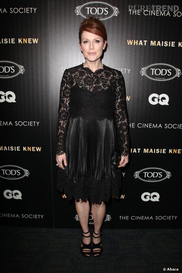 """Julianne Moore à la projection de son film """"What Maisie Knew"""", le 2 mai 2013, à New York."""