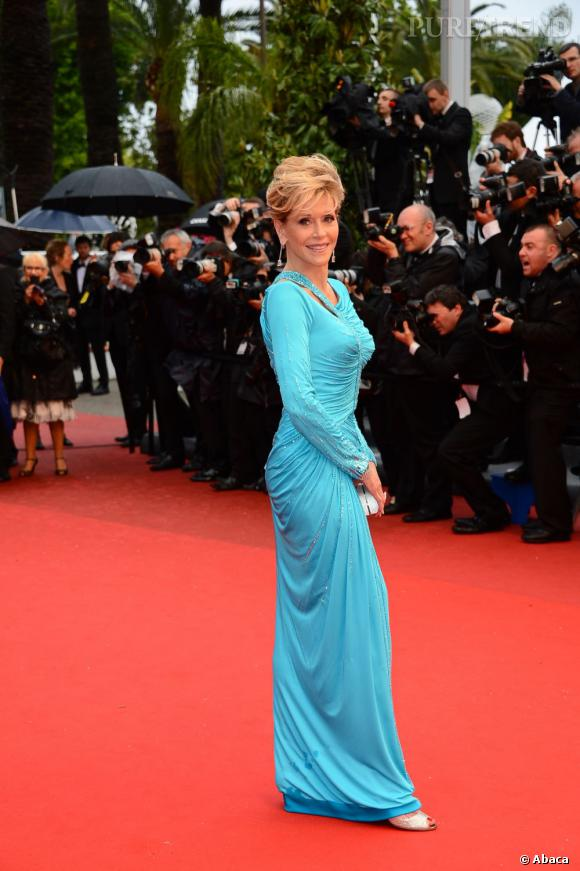 Cannes 2013 : Jane Fonda en Atelier Versace