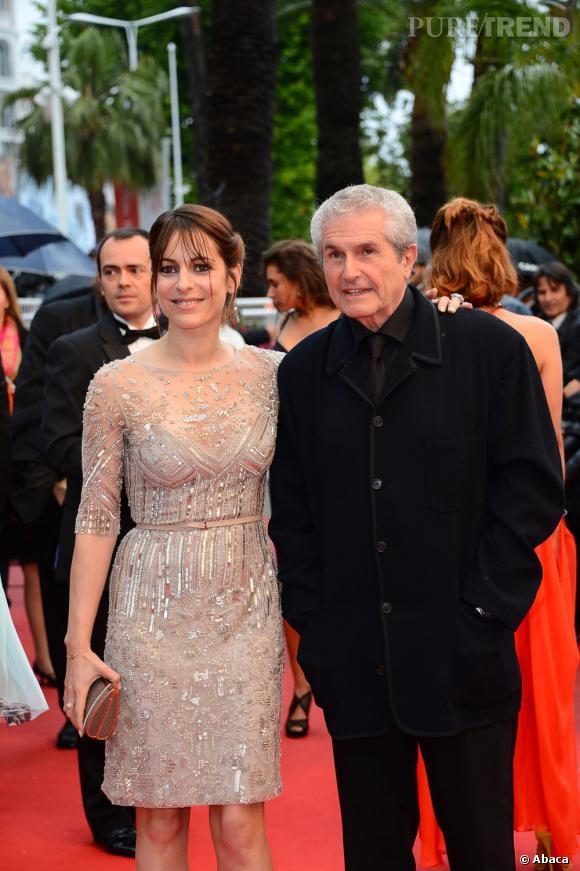 Cannes 2013 : Claude Lelouch et une amie.