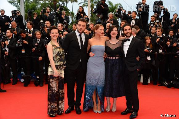 Cannes 2013 : Rebecca Zlotowski, Lea Seydoux, Tahar Rahim, Denis Menochet, Camille Lellouche.