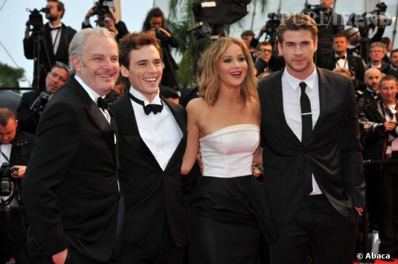Cannes 2013 : Francis Lawrence, Jennifer Lawrence, Sam Claflin, Liam Hemsworth.