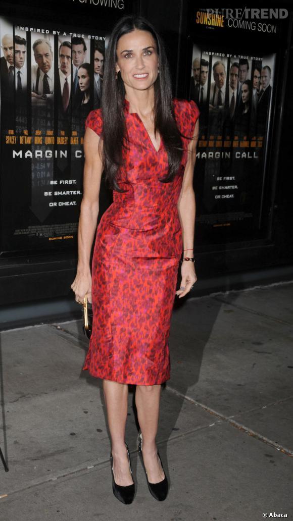Après la rupture, en septembre 2011, sa silhouette reflète sa détresse, et la perte de poids de Demi Moore devient plus qu'inquiétante.