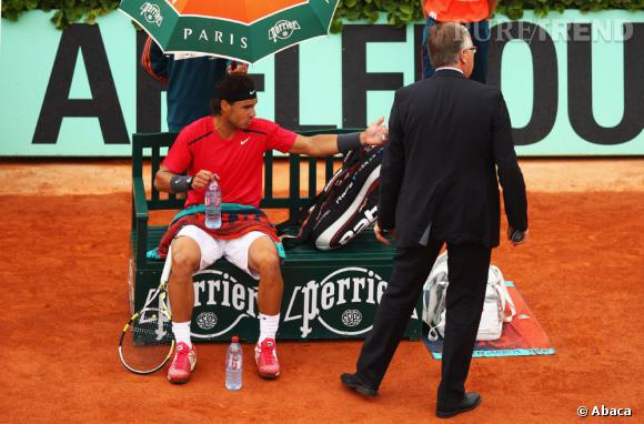 Rafaël Nadal a connu une finale pluvieuse en 2012.