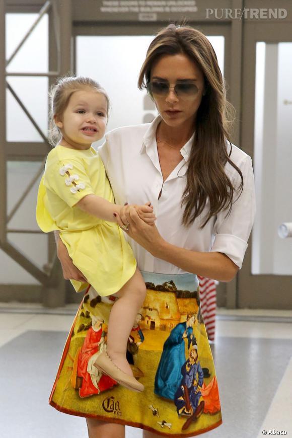 Victoria Beckham à l'aéroport de LAX à Los Angeles.