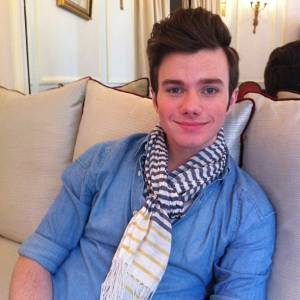 "Chris Colfer en pleine promotion de son film ""Struck"" à Paris..."