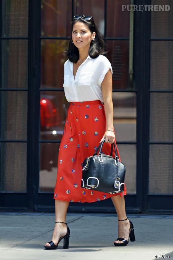 Olivia Munn dans les rues de New York.