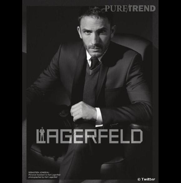 Sébastien Jondeau, la nouvelle égérie de Karl Lagerfeld.