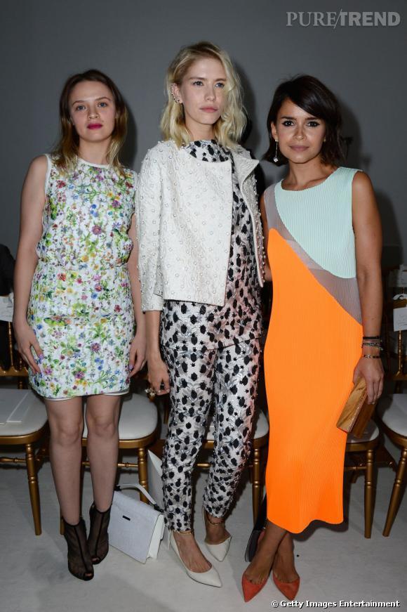 Sara Forestier, Elena Perminova et Miroslava Duma au défilé Giambattista Valli à Paris.