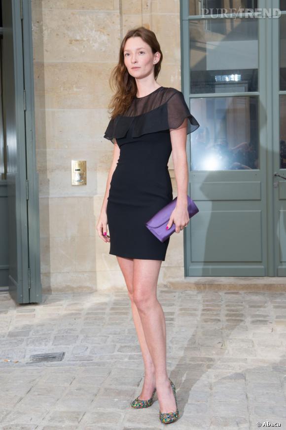 Audrey Marnay au défilé Alexis Mabille à Paris.