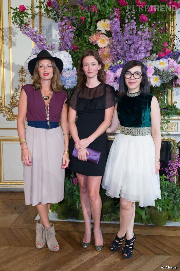 Audrey Marnay et les Brigitte au défilé Alexis Mabille à Paris.