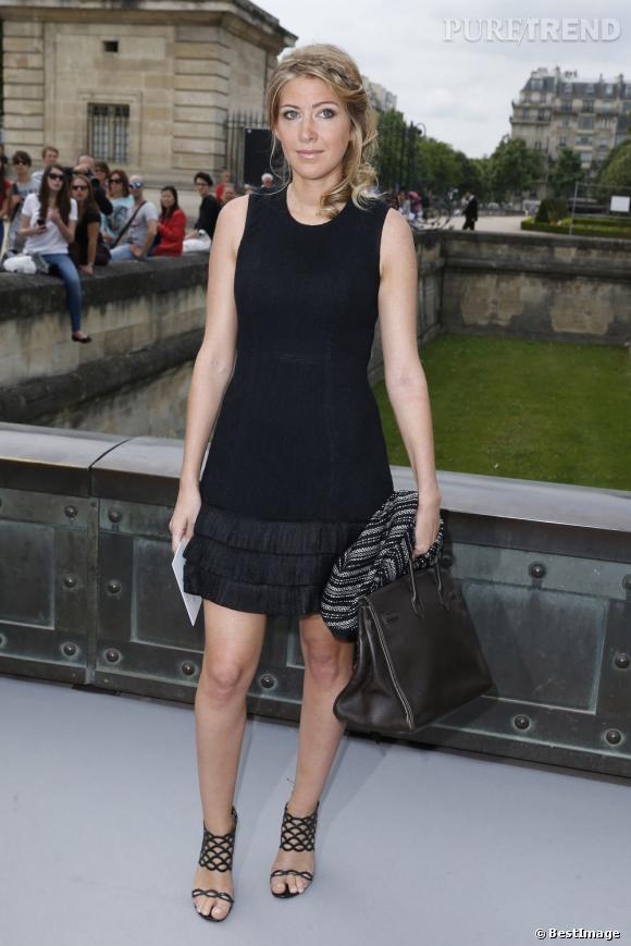 Amanda Sthers au défilé Christian Dior à Paris.