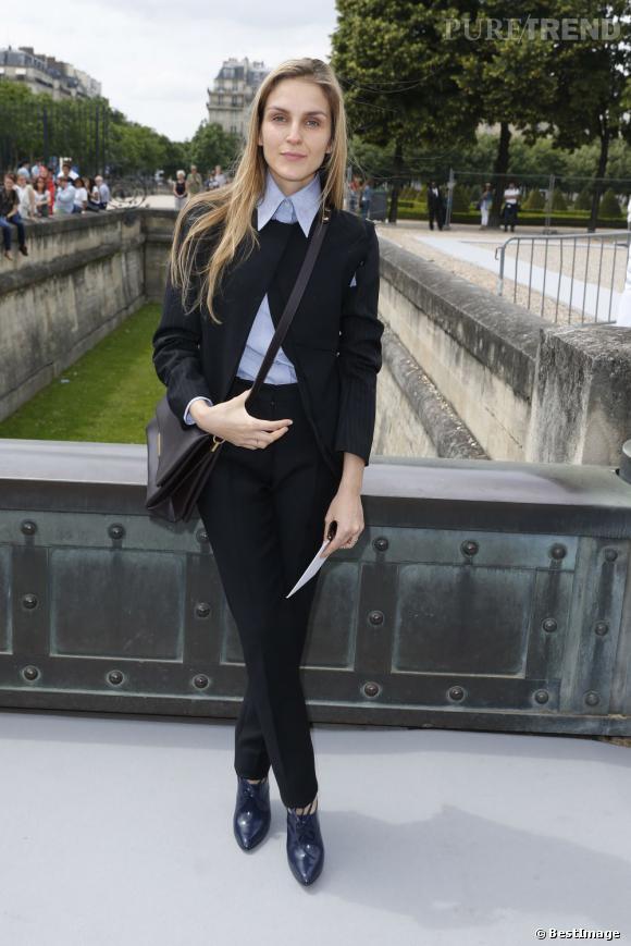Gaia Repossi au défilé Christian Dior à Paris.