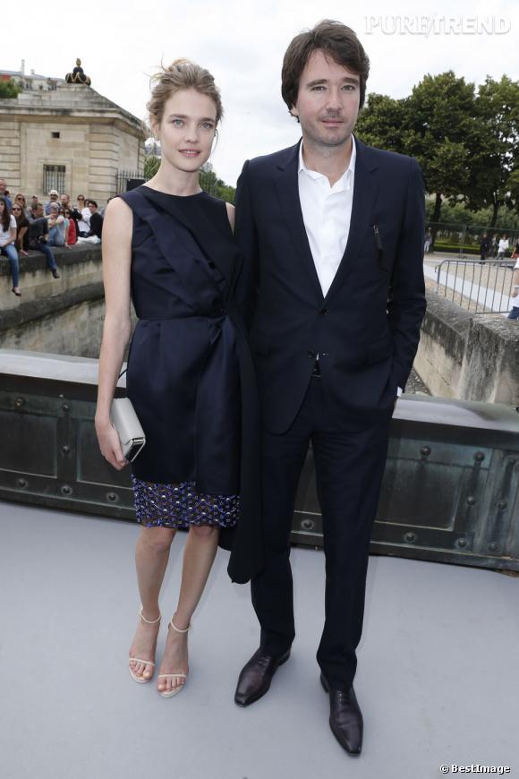 Natalia Vodianova et Antoine Arnault au défilé Christian Dior à Paris.