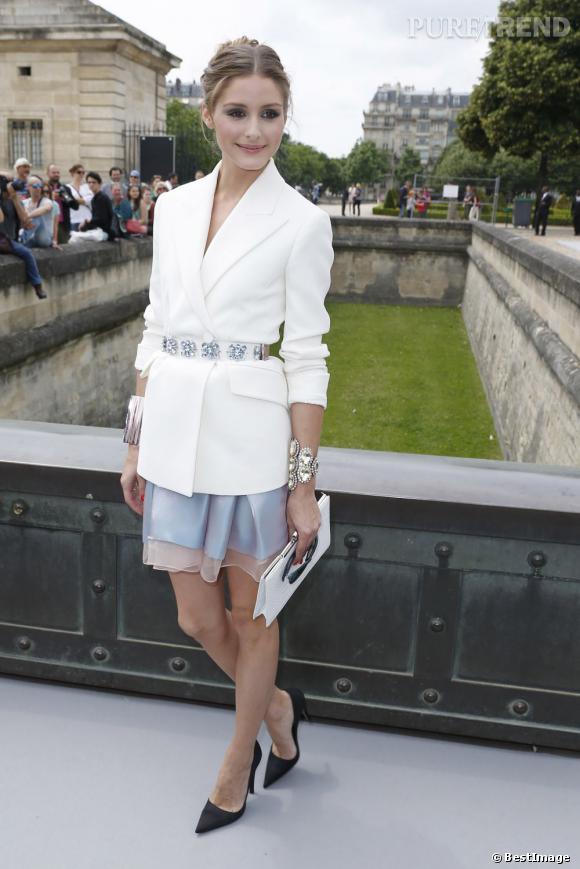 Olivia Palermo au défilé Christian Dior à Paris.