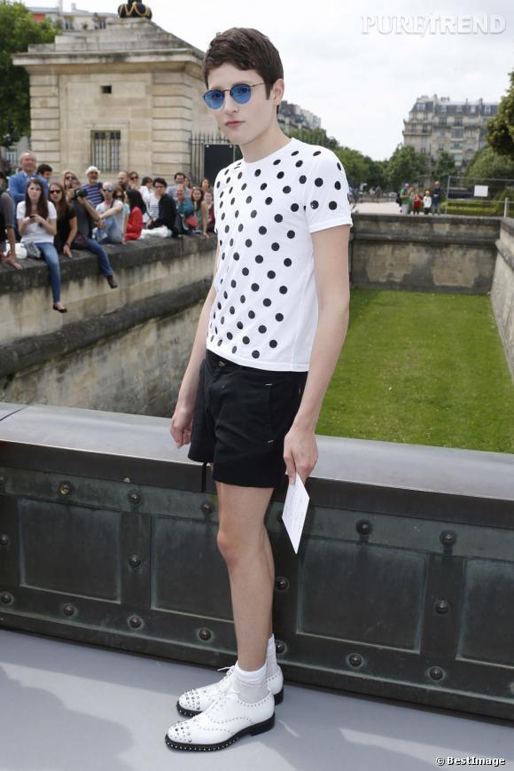 Harry Brant au défilé Christian Dior à Paris.