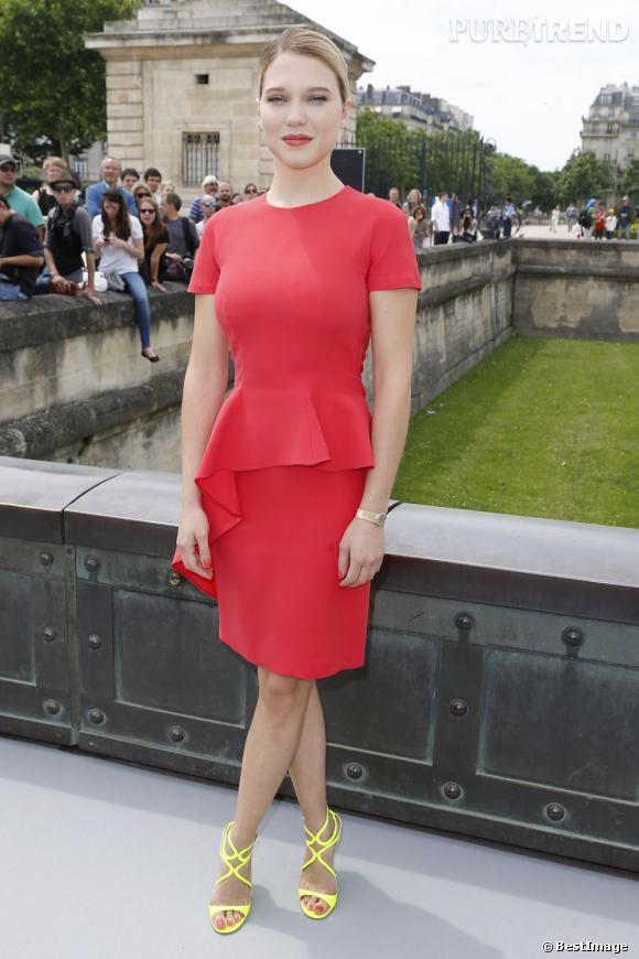 Léa Seydoux au défilé Christian Dior à Paris.