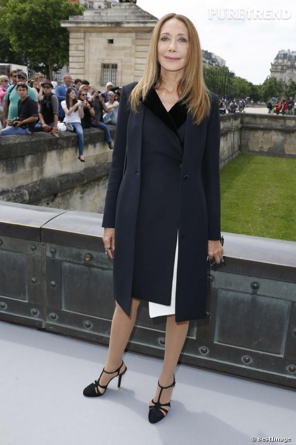 Marisa Berenson au défilé Christian Dior à Paris.