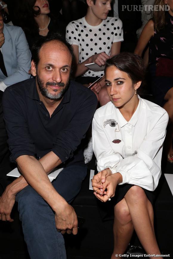 Le réalisateur italien Luca Guadanino et Delfina Delettrez front row au défilé Christian Dior à Paris.