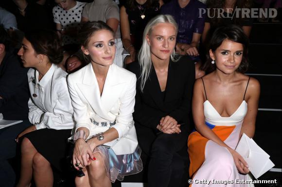 Olivia Palermo eu front row au défilé Christian Dior à Paris.